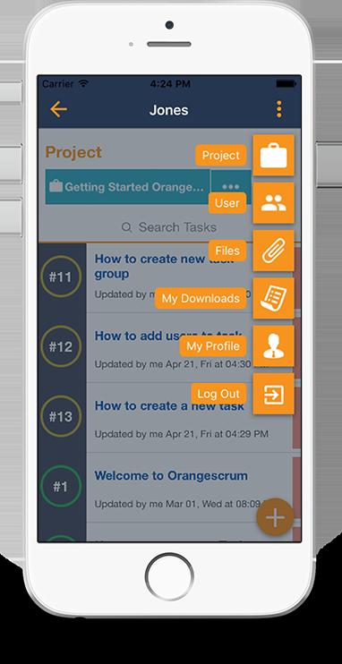 The OrangeScrum Mobile App