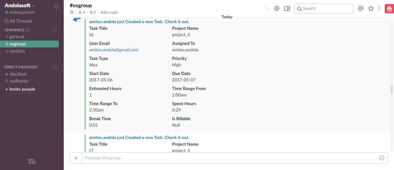 Slack Integration with OrangeScrum Project Collaboration Tool