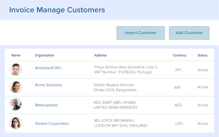 View and Manage Customers