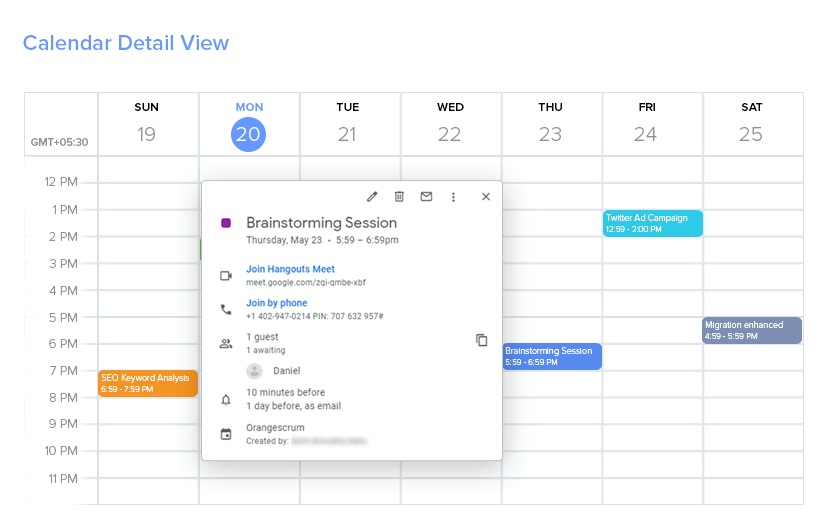 Smart Scheduling for Important Meetings