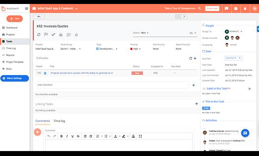 Orangescrum Task Detail video